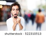 young funny man sad pose. sad... | Shutterstock . vector #522310513