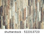 old wood plank wall background | Shutterstock . vector #522313723