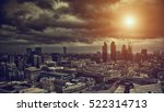 dramatic skyline of london from ... | Shutterstock . vector #522314713