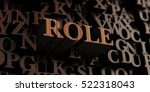 role   wooden 3d rendered... | Shutterstock . vector #522318043