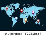 world map countries.  location... | Shutterstock .eps vector #522318667