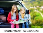 two adorable little sisters... | Shutterstock . vector #522320023