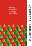 holiday greeting card. text ... | Shutterstock .eps vector #522325807