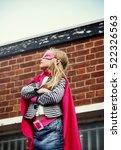 superhero baby girl brave... | Shutterstock . vector #522326563