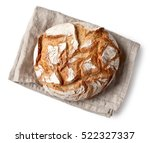 freshly baked bread on linen... | Shutterstock . vector #522327337