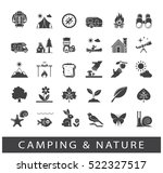 set of camping and nature icons.... | Shutterstock .eps vector #522327517