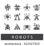 vector set of various types of... | Shutterstock .eps vector #522327523