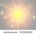 glow light effect. star burst... | Shutterstock .eps vector #522328093