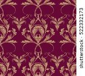 damask seamless pattern. floral ... | Shutterstock .eps vector #522332173