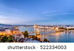 budapest dusk scene of downtown ... | Shutterstock . vector #522334003