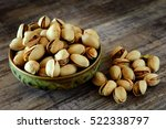 Dish Full Of Pistachios With...