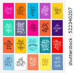 set of 20 calligraphy posters... | Shutterstock .eps vector #522340207