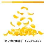 potato chips collection. vector ...   Shutterstock .eps vector #522341833