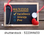 health status checklist ... | Shutterstock . vector #522344653