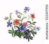 watercolor illustration of a... | Shutterstock . vector #522347953