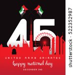 united arab emirates national... | Shutterstock .eps vector #522352987