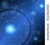 abstract dark blue technology...   Shutterstock .eps vector #522362203