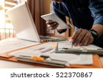 business documents on office... | Shutterstock . vector #522370867