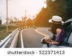 asain woman traveler with... | Shutterstock . vector #522371413