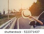 asain woman traveler with... | Shutterstock . vector #522371437