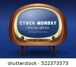 cyber monday concept design.... | Shutterstock .eps vector #522373573