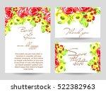 vintage delicate invitation... | Shutterstock .eps vector #522382963