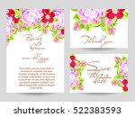 romantic invitation. wedding ... | Shutterstock .eps vector #522383593