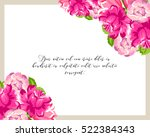 invitation with floral... | Shutterstock .eps vector #522384343