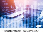 stock market trading graph and... | Shutterstock . vector #522391327