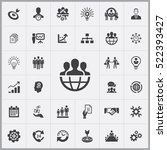 business planning icons... | Shutterstock .eps vector #522393427