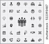 businessman team icon. business ... | Shutterstock .eps vector #522393487