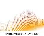 orange halftone background on... | Shutterstock .eps vector #52240132