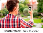 man taking a photo with smart...   Shutterstock . vector #522412957