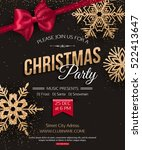 merry christmas party poster | Shutterstock .eps vector #522413647