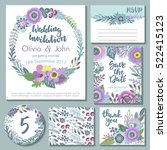 vector wedding collection.... | Shutterstock .eps vector #522415123