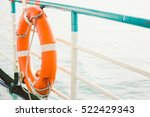 life buoy attached to the... | Shutterstock . vector #522429343