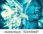 digital business revolution... | Shutterstock . vector #522430687