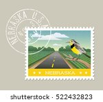 nebraska postage stamp design.  ... | Shutterstock .eps vector #522432823