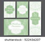 set of wedding invitations.... | Shutterstock .eps vector #522436207