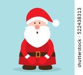 funny santa. christmas greeting ... | Shutterstock .eps vector #522438313