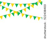 bunting flag celebration... | Shutterstock .eps vector #522438403