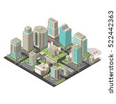city isometric concept with... | Shutterstock .eps vector #522442363