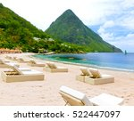 beautiful white beach in saint... | Shutterstock . vector #522447097