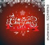 christmas sale hand lettering... | Shutterstock .eps vector #522448963
