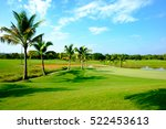 Beautiful Green Fairway Golf...