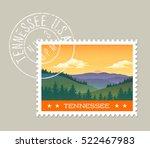 tennessee postage stamp design. ... | Shutterstock .eps vector #522467983