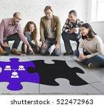 team building collaboration... | Shutterstock . vector #522472963