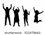 silhouette people jump in to... | Shutterstock . vector #522478663