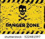 danger zone grunge background... | Shutterstock .eps vector #522481597