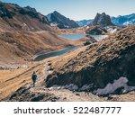 girl hiking on the italian alps | Shutterstock . vector #522487777